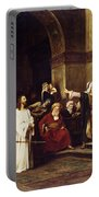Christ Before Pilate Portable Battery Charger by Mihaly Munkacsy