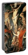 Christ Between The Two Thieves Portable Battery Charger by Peter Paul Rubens