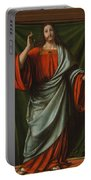 Christ Blessing Portable Battery Charger