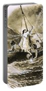 Christ Calming The Storm Portable Battery Charger