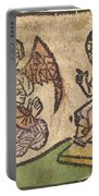 Christ Child With Three Angels Portable Battery Charger