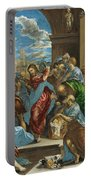 Christ Cleansing The Temple Portable Battery Charger