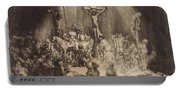 Christ Crucified Between The Two Thieves  The Three Crosses, 1653 Portable Battery Charger
