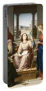 Christ Disputing With The Doctors In The Temple Portable Battery Charger by Franz von Rohden