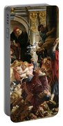 Christ Driving The Merchants From The Temple Portable Battery Charger