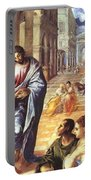 Christ Healing The Blind 1578 Portable Battery Charger