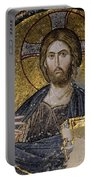 Christ Holds Bible In Mosaic At Chora Church Istanbul Turkey Portable Battery Charger