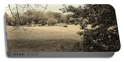 Christ In The Field Sepia Portable Battery Charger