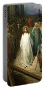 Christ Leaves His Trial Portable Battery Charger by Gustave Dore
