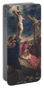 Christ On The Cross Portable Battery Charger by Delacroix