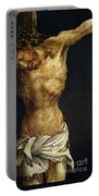 Christ On The Cross Portable Battery Charger by Matthias Grunewald