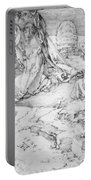 Christ On The Mount Of Olives 1524 Portable Battery Charger