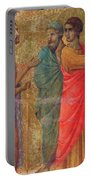 Christ On The Road To Emmaus Fragment 1311 Portable Battery Charger