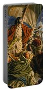 Christ On The Sea Of Galilee Portable Battery Charger by Jack Hayes