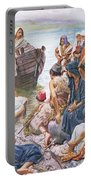 Christ Preaching From The Boat Portable Battery Charger