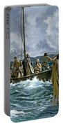 Christ Walking On The Sea Of Galilee Portable Battery Charger by Anonymous