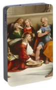 Christ Washing The Disciples' Feet Portable Battery Charger