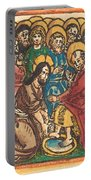Christ Washing The Feet Of The Apostles Portable Battery Charger