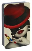 Christion Dior Red Hat Lady Portable Battery Charger