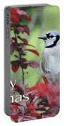 Christmas And Blue Jay Portable Battery Charger