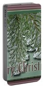 Christmas Arborvitae In Ice Portable Battery Charger
