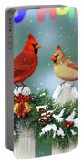 Christmas Birds And Garland Portable Battery Charger