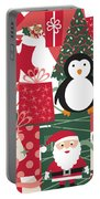 Christmas Collage Portable Battery Charger