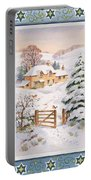 Christmas Cottage Portable Battery Charger