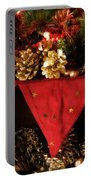 Christmas Decorations Of Garlands And Pine Cones Portable Battery Charger
