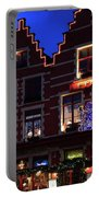 Christmas Decorations On Buildings In Bruges City Portable Battery Charger