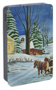Christmas Eve In The Country Portable Battery Charger