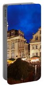 Christmas Fair In Front Of Town Hall Portable Battery Charger