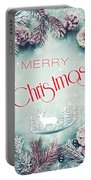 Christmas Greeting Card, By Imagineisle Portable Battery Charger