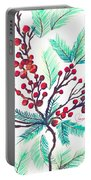 Christmas Holly Portable Battery Charger