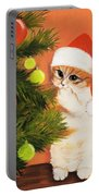 Christmas Kitty Portable Battery Charger