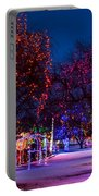 Christmas Lights At Locomotive Park Portable Battery Charger