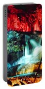 Christmas Lights At The Waterfall Portable Battery Charger
