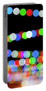 Christmas Lights Bokeh Blur Portable Battery Charger
