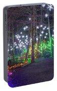 Christmas Lights Decoration Along Lafarge Lake Path Portable Battery Charger