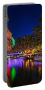 Christmas Lights On The Riverwalk 2 Portable Battery Charger
