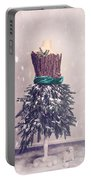 Christmas Mannequin Dressed In Fir Branches Portable Battery Charger