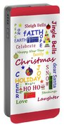 Christmas Message  -  Typography Portable Battery Charger