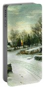 Christmas Morn Textured Portable Battery Charger