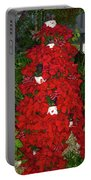 Christmas Poinsettia Display 002 Portable Battery Charger