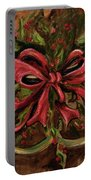 Christmas Red Ribbon Portable Battery Charger