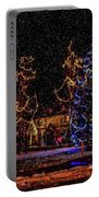 Christmas Snow Storm In Big Bear Portable Battery Charger
