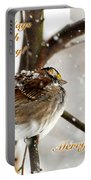 Christmas Sparrow - Christmas Card Portable Battery Charger