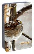 Christmas Sparrow - Christmas Card Portable Battery Charger