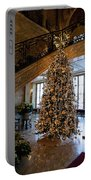 Christmas Tree And Staircase Marble House Newport Rhode Island Portable Battery Charger