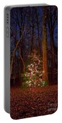 Christmas Tree In Forest Portable Battery Charger
